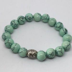 Elasticized Gemstone Bracelet